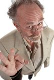 Wacky professor. Making ok gesture Royalty Free Stock Image