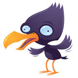 Wacky Squawking Bird. Vector cartoon illustration of a wacky squawking bird flapping his wings vector illustration