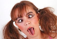Wacky teenage girl Royalty Free Stock Photos