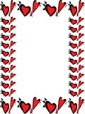 Wacky valentines day heart border. Wacky heart border, frame valentines Stock Images