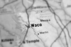 Waco, a city in the U.S. Waco, a city in the United States of America, USA selective black and white focus stock photography