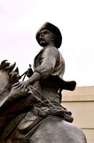 Waco statue man on horse. With had stock photo