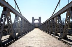 Waco suspension bridge Royalty Free Stock Photos