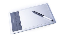 Wacom Bamboo Pen and Touch with stylus. Isolated. royalty free stock photography
