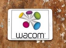Wacom technology company logo. Logo of Wacom technology company on samsung tablet. wacom is a Japanese company headquartered in Kazo, Saitama, Japan, that Stock Image