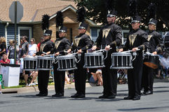 Waconia High School Marching Band Drummers Royalty Free Stock Image