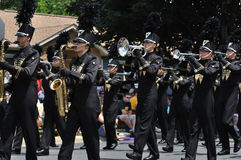 Waconia High School Marching Band in a Parade Stock Images