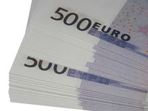 Wad των χρημάτων για 500 ευρώ Στοκ εικόνα με δικαίωμα ελεύθερης χρήσης