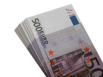 Wad των χρημάτων για 500 ευρώ Στοκ Εικόνα