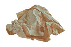 Wad of crumpled paper Royalty Free Stock Images