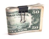 Wad do dinheiro fotografia de stock