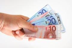 Wad dos euro imagens de stock royalty free