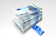 A wad of Euro banknotes Royalty Free Stock Image