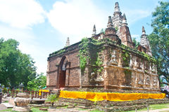 Wad Jed Yod ANCIENT TEMPLE IN CHIANGMAI, THAILAND Royalty Free Stock Photography