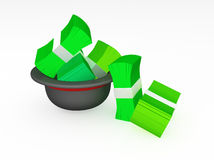 Wad of Money Hat Royalty Free Stock Photos