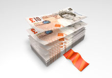 A wad of Pound banknotes Royalty Free Stock Photography