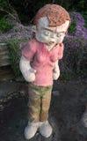 Waddayalookinat à la sculpture par la mer Photos stock