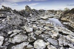 Wadden δρόμος θάλασσας στο νησί Mando, Δανία Στοκ Φωτογραφίες