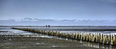 Wadden θάλασσα από το νησί Mando, Δανία Στοκ Εικόνες