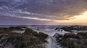 Wadden sea on Fano, Denmark. Wadden sea at sunset on Fano, Denmark Royalty Free Stock Images