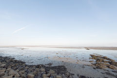 Wadden sea in Holland Royalty Free Stock Photos