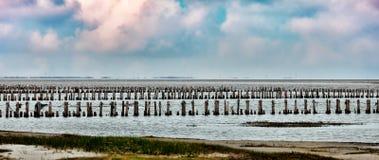 Wadden sea from the island Mando, Royalty Free Stock Photos