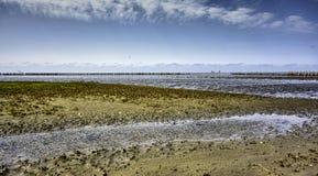 Wadden sea from the island Mando, Denmark Royalty Free Stock Photos