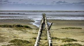 Wadden sea from the island Mando, Denmark Royalty Free Stock Image