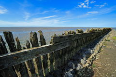 Wadden Sea in Moddergat, the Netherlands Royalty Free Stock Photography