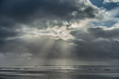 Wadden sea near Esbjerg, Denmark Stock Photos