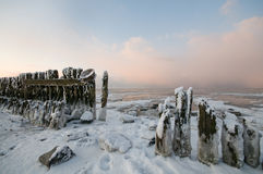 The wadden Sea by Paesens Moddergat Stock Images