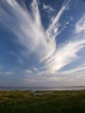 Costa alemão de mar de Wadden - Mar do Norte Fotografia de Stock