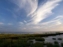 Wadden morze - Niemiecki Północny Denny wybrzeże Fotografia Stock
