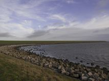 Waddensea dike, Terschelling Stock Photo