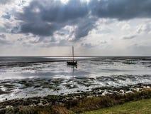 Waddensea wetlands off Vlieland, Holland Stock Image