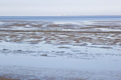 Waddenzee near Noordkaap, Groningen, Holland Royalty Free Stock Photo