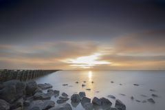 Waddenzee, Nederland /Netherlands fotografie stock
