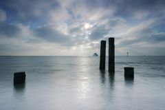 Waddenzee, Nederland /Netherlands fotografia stock libera da diritti