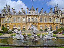 Waddesdon Manor, near Aylesbury. A front on view of the Rothschild Neo-Renaissance Waddesdon Manor Royalty Free Stock Image