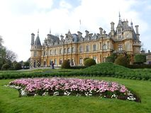 Waddesdonmanor een buitenhuis en tuinen tussen 1874 en 1889 voor Baron Ferdinand de Rothschild wordt gebouwd dat stock afbeelding