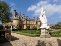 Waddesdonmanor een buitenhuis en tuinen tussen 1874 en 1889 voor Baron Ferdinand de Rothschild wordt gebouwd dat royalty-vrije stock foto