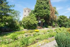 Waddington村庄庭院在兰开夏郡 一个非常相当英国村庄 免版税库存照片