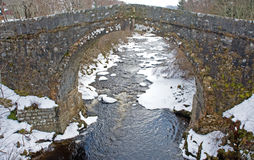 Wade Bridge at Whitebridge. Royalty Free Stock Image
