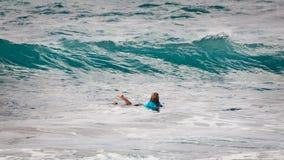 Wade Carmichael, plage Hawaï de coucher du soleil Image libre de droits