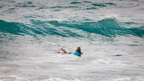 Wade Carmichael, praia Havaí do por do sol Imagem de Stock Royalty Free