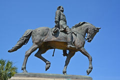 Wade Hampton III equestrian statue. COLUMBIA SC USA 06 27 2016: Wade Hampton III equestrian statue was a Confederate cavalry leader during the American Civil War Royalty Free Stock Images