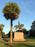 Wade Hampton III Monument on the SC State House Grounds.  stock images