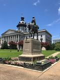 Wade Hampton III Monument on the SC State House Grounds.  royalty free stock photography