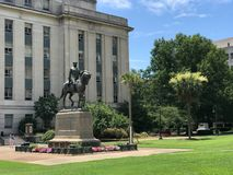 Wade Hampton III Monument on the SC State House Grounds.  stock photography