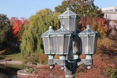 Wade Lagoon famoso en círculo de la universidad del ` s de Cleveland Fotografía de archivo